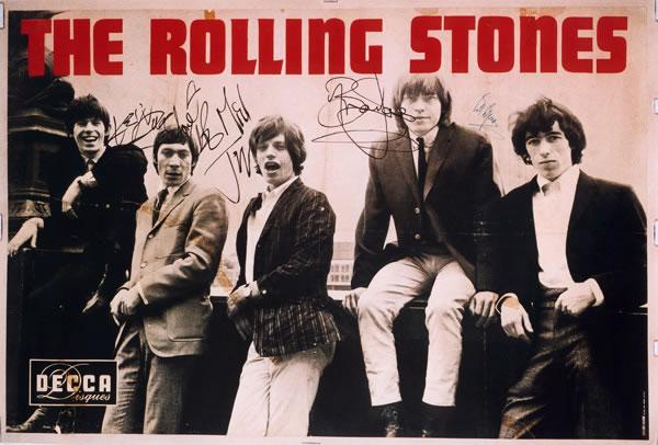 Affiche decca pour le premier concert des rolling stones le 20