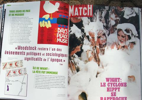 Article de Paris Match sur les hippies (Katmandou, Goa, Kaboul) HippieB